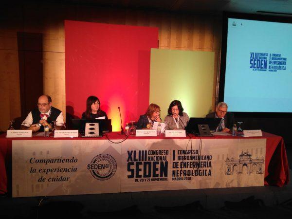 XLIII Congreso Nacional SEDEN y I Congreso Iberoamericano de Enfermería Nefrológica,  celebrado hoy en el  Palacio Municipal de Congresos en Madrid.