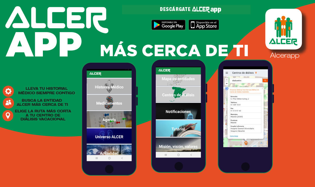 ALCER ya disponible en  PLAYSTORE y APP STORE