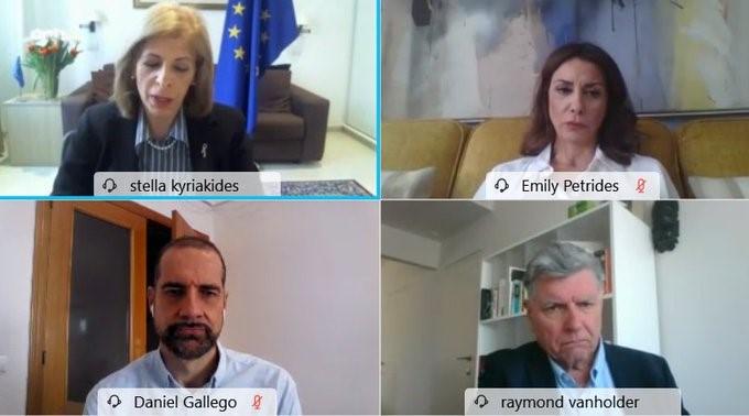 Stella Kriakides recibe a la Alianza Europea por la Salud Renal