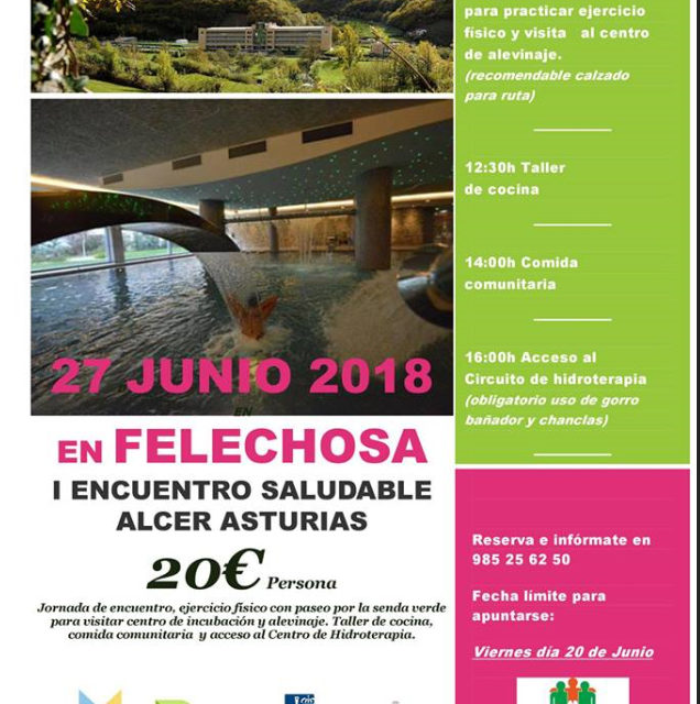 Encuentro saludable de ALCER Asturias
